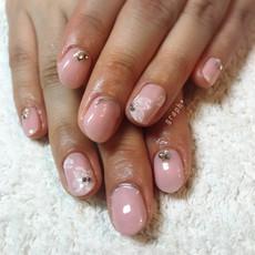 桜ブライダルジェルネイル