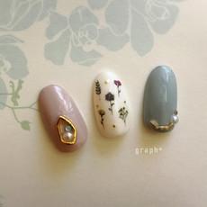 2018 Summer nail ボタニカルデザイン