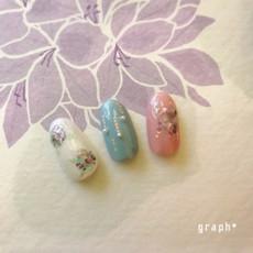 Summer nail 紫陽花シェルネイル
