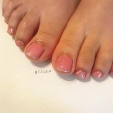 桜色フットジェルネイル
