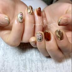 ご希望のネイルデザインを全て盛り込んだご成人式用ジェルネイル|graph* nail & design|福井県福井市の隠れ家ネイルサロン